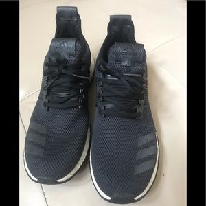 Adidas Pure Boost Black Athletic Shoes, Size 10.5